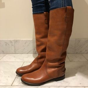 Madewell Archive Brown Leather Riding Boots